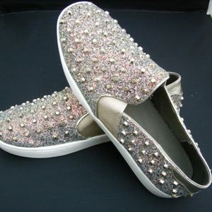 Dune London 10 Studs Sparkle Shoes Trainers Bling